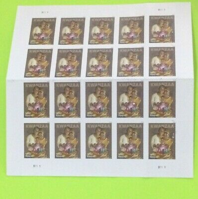 USPS Book Of 20 Forever Kwanzaa Stamps Face Value $11.00 Free Shipping