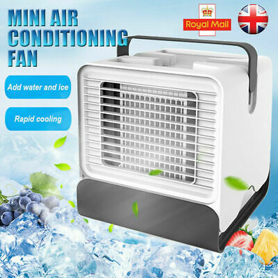 UK MINI AIR Conditioning Fan Portable Conditioner Unit Low