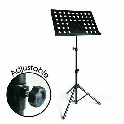 Adjustable Music Sheet Conductor Metal Tripod Holder Stand Mount Folding Stage
