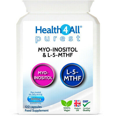 Purest Myo-Inositol & 5-MTHF Capsules for PCOS and CONCEPTION | 1 MONTH SUPPLY