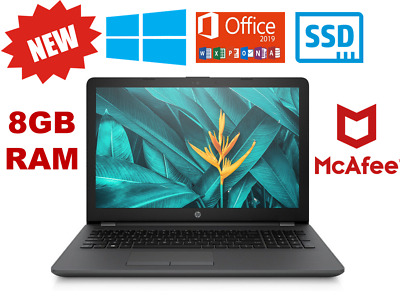 NEW HP G6 Laptop SSD or 1TB 4 or 8GB Ram Windows 10 With Microsoft Office 365