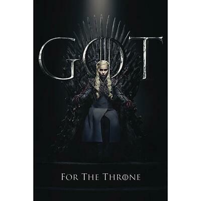 Game Of Thrones Poster Daenerys Throne 294