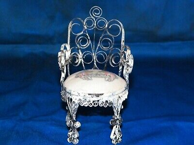 Folk Tramp Art Chair Hand Made From Old Metal Aerosol Can Home Decor