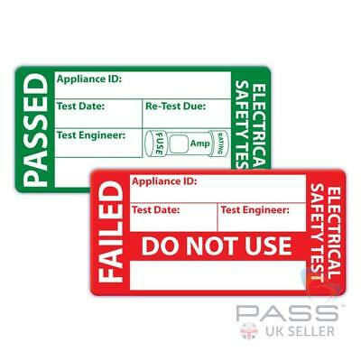 Stickers 50 x 25mm  Red on White Partex SL502 100 x PAT Test FAILED Labels