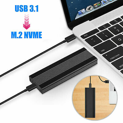 Aluminum NVMe PCIE USB3.1 HDD Enclosure M.2 to USB 3.1 SSD Hard Disk Drive Case