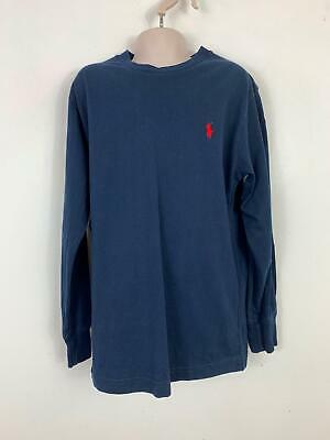 Boys Polo Ralph Lauren Blue Long Sleeve Casual Crew Neck T Shirt Top Age 8 Years