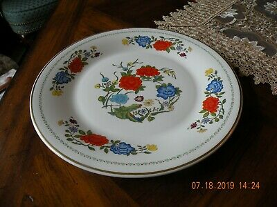"Aynsley Famille Rose Bone China Dinner Plates 10 3/4"" - Set of 8 - England"