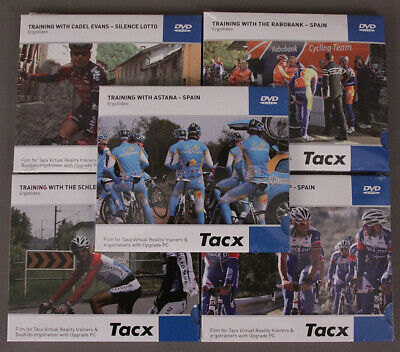 Tacx Training With Pro Cyclists Set of Five Video DVDs Road Bike Trainer 5 Pack