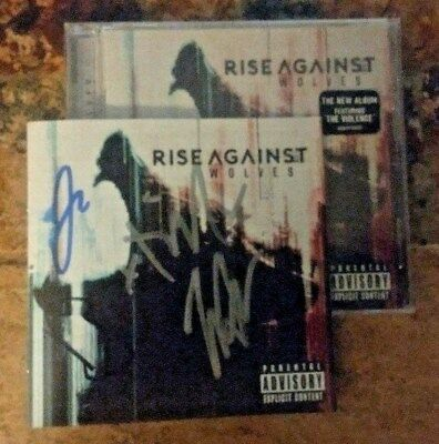SIGNED RISE AGAINST Wolves SIGNED Autographed CD