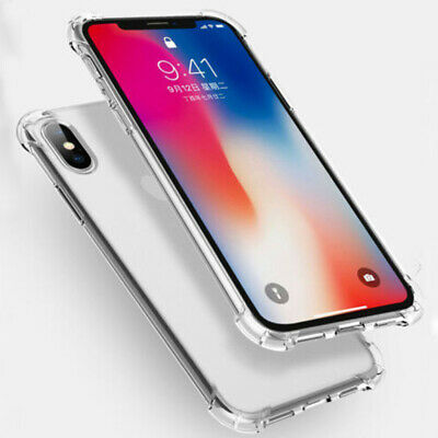 For iPhone X XS XR XS Max Clear Corner Bumpers Shockproof Protective Cover Case