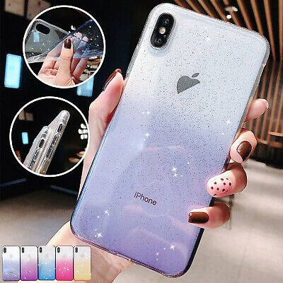 For iPhone XR Case 8 7 6s Plus XS Max Luxury Gradient Clear Soft Silicone Cover