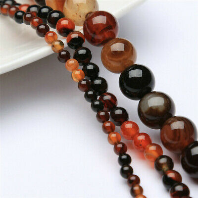 4-12mm Natural Round Color Agate Loose Beads Diy Accessories Handmade Stone