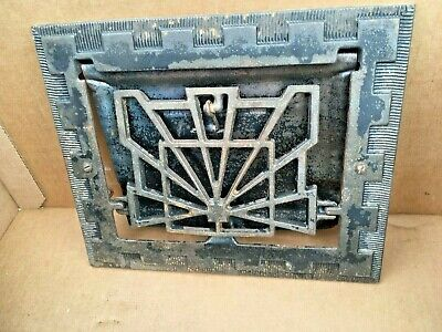 "Heat Air Grate Wall Register 10"" x 10 "" Wall Opening - VINTAGE- Works! ART DECO"