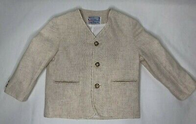 Vintage IMP Toddler Boy Cream Oatmeal Suit Jacket Blazer Lined Size 3T