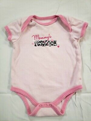 WeePlay Infant Girls One Piece/Body Suit  Pink/Hearts size 3-6 months
