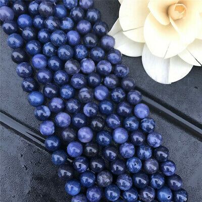 6-12mm Natural Round Sodalite Loose Beads Diy Accessories Handmade Gemstone