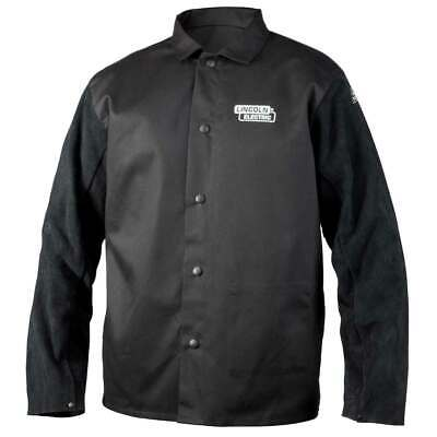 Lincoln Electric K3106 Traditional Split Leather Sleeved Welding Jacket, Large