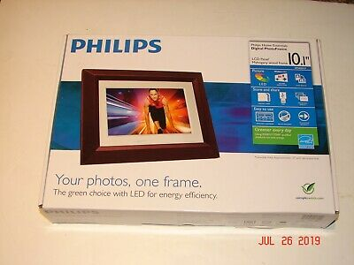 """PHILIPS Digital PhotoFrame SPF3402S/G7 10.1"""" PICTURE FRAME in BROWN *NEW IN BOX*"""