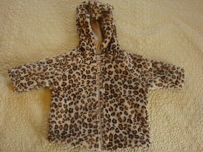 NWT Hanna Andersson 60 2-6 Months Baby Girl Light Beige Leopard Jacket