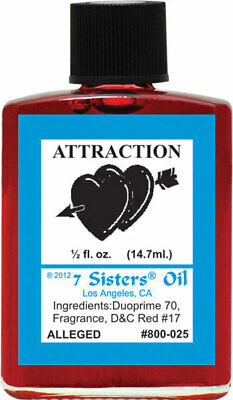 7 Sisters Attraction Oil  1/2oz Witchcraft Wicca Hoodoo Voodoo Love Romance