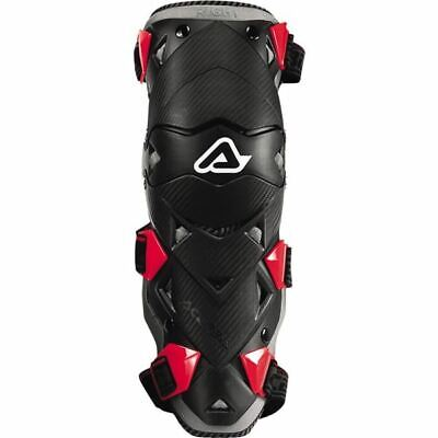 Black/Red Sz One Size Acerbis Impact Evo Knee/Shin Guards