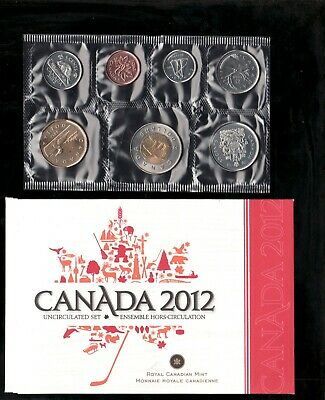 2012 Uncirculated Coin Proof Like Set ~ Loon Bear Canadian Coin set