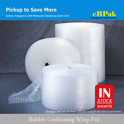 Bubble Cushioning Wrap for Packaging & Moving - Clear P10 10mm Bubbles