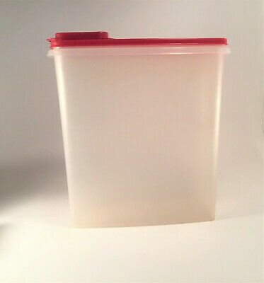 Tupperware Cereal Clear Storage Container with Red Pour All Seal;~13 cups