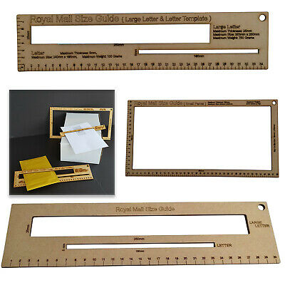 Royal Mail PPI Letter Size Guide Postal Price Postage Ruler Template Post Office