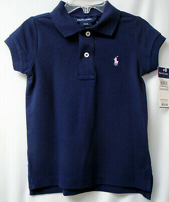 RALPH LAUREN POLO Toddlers S/S Pullover Cotton Blend Polo-Navy-3/3T-NWT-$32.50