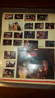 "The Goonies Beatrice promo movie poster vintage 1985 -2 sided 17.5"" X 22"""