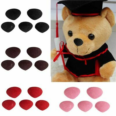 100pcs Velvet Triangle DIY Doll Toy Plastic Safety Noses For Teddy Bear Craft AU