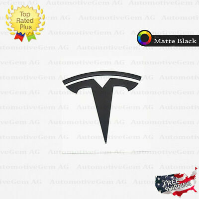 Tesla Metal Trunk Emblem Matte Black Logo Badge Sticker Model S X 3 P100D P90D