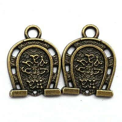 SJM122 22x17x2mm 8Pcs Carved Brass Bronze Arch Ancient Chinese Pendant Bead