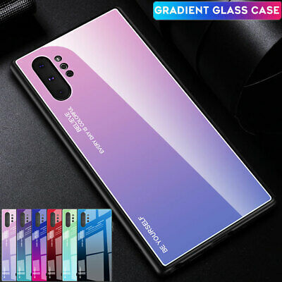 Thin Gradient Hybrid Tempered Glass Case Cover for Samsung Galaxy Note10 Pro A80