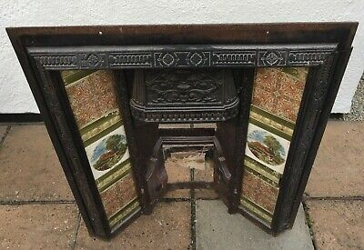 Cast iron fireplace, possibly Victorian or Edwardian