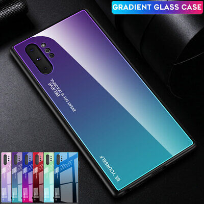 For Samsung Galaxy Note 10 Pro Case Hybrid Gradient Tempered Glass Armor Cover
