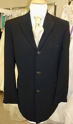 Prince Edward Black Jacket Mens Luxury Designer Wedding Formal Prom Races Punk