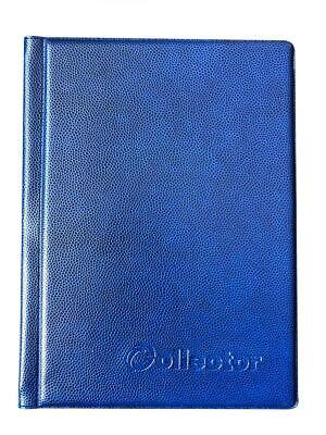 COLLECTOR COIN ALBUM for 96 medium size coins like A-Z 10 pence 10p 50p blue