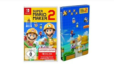Super Mario Maker 2 Limited Edition + Steelbook (Nintendo Switch, 2019) NEU