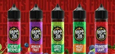 Vape24 Fruits 50Ml E Liquid Juice Vape 24 0Mg 1 Free Nic 70/30Vg/Pg