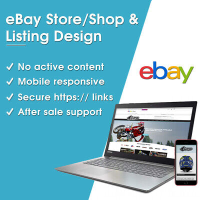 eBay Shop Design Template Store Custom Responsive Listing Https Mobile HTML