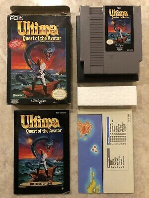 Ultima Quest of the Avatar ( Nintendo Entertainment System ) Nes ,Complete ,CIB