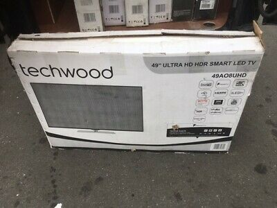 """Techwood 49AO8UHD 49"""" TV Smart 4K Ultra HD LED. For Spare Parts or Repair."""