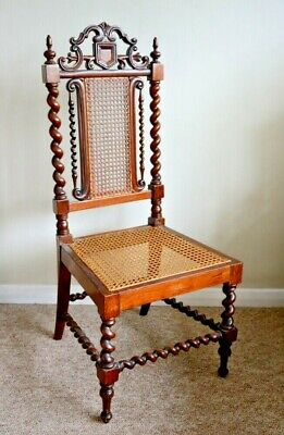 Antique Victorian Gothic Revival Mahogany 3/4 size Chair