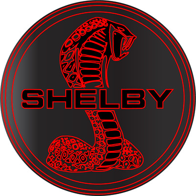 Cobra Shelby Ford Mustang GT Racing Motor Sports Vinyl Sticker Decal Red Black