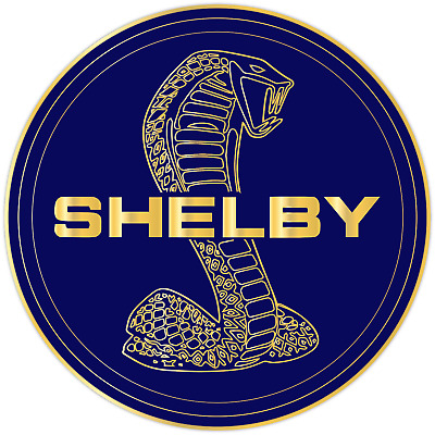 Cobra Shelby Ford Mustang GT Racing Motor Sports Vinyl Sticker Decal Royal Blue