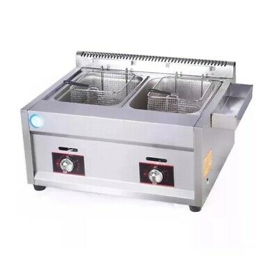 Tanke - LPG Gas Fryer  Tabletop Gas Fryer High Powerful Stainless 20L some dent