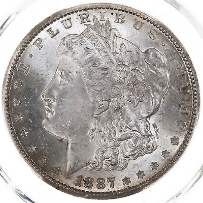 1887-S Morgan $1 PCGS Certified MS63 US Mint State Graded Silver Dollar Coin