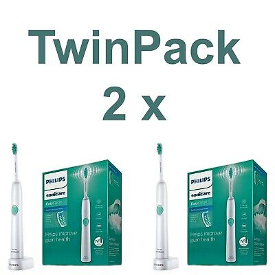 2 x Philips Sonicare EasyClean HX6511/50 Electric Rechargeable Auto Toothbrush
